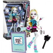 Mattel Year 2012 Monster High Ghoul's Night Out Series 11 Inch Doll Set - LAGOONA BLUE Daughter of The Sea Monster with Smartphone Cosmetic Accessories Purse Hairbrush and Doll Stand