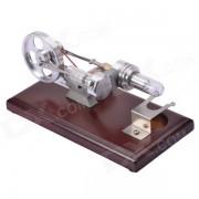 NEJE DIY 4 * LED Stirling Engine Educacion Puzzle Toy - plata + Marron