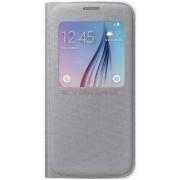 Husa tip S-View Samsung EF-CG920B pentru Galaxy S6 G920 (Argintie)