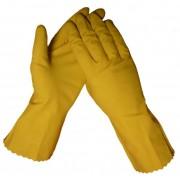 Latex huishoudhandschoenen Geel