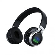 Excelvan Wireless Bluetooth V3 LED Folding Stereo Headset Classic Adjustable Foldable Music Headphones,heavy Bass,fm Radio/tf with Soft Earpads Earphones for Iphone, Android Smart Phone,laptop