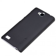 Nillkin Frosted Hard Back Case Cover for Huawei Honor 3C + Screenguard - Black