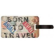 Exoctic Silver ANJALI LUGGAGE TAG ( BTT )001 Luggage Tag(Multicolor)