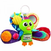 Game / Play Lamaze Play & Grow Jacques The Peacock Take Along Toy. Crinkle, Squeaker, Rattles, Teether Toy / Child / Kid