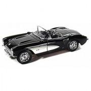 1957 Chevy Corvette Convertible Black - Maisto 31139 - 1/18 Scale Diecast Model Toy Car