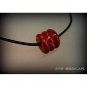 """Jaspis mookait - element wiercony- """"beczułka"""" brązowa"""
