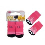 """Mini calzini """"X"""" per cane/gatto con antiscivolo"""