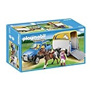 Playmobil 5223 Country Pony Farm Vets SUV with Horse Trailer - Multi-Coloured