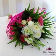 Buchet flori eustoma si crizanteme BF034