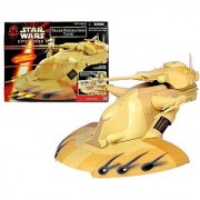 Hasbro Year 1999 Star Wars Movie Series Episode 1 Action Figure Vehicle Set - TRADE FEDERATION TANK with Adjustable Secondary Laser Cannons Elevating Primary Laser Cannon Opening Top Hatch Rotating Turret and 4 Missile Launchers with 4 Missiles (Action