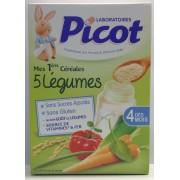 Picot Mes 1ères Céréales 5 Légumes 200gr
