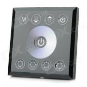96W 2-CH bande de LED écran tactile couleur unique gradateurs d'éclairage Contr?leur - noir + blanc (DC 12 ~ 24V)