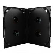 Box para DVD Scanavo Quadruplo Preto com 50 unidades