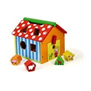 Vilac Wooden Farm House of Shapes Shape Sorter