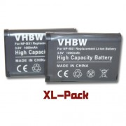 2 batteries 1000mAh pour caméscope Sony HDR-AS15, HDR-GW66, HDR-GW66VE, HDR-GWP88, HDR-GWP88V, HDR-AS30V Action Cam, HDR-MV1 remplace NP-BX1