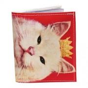 rosa gato gatito real foto doble pliegue billetera