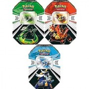 Pokemon Black White Card Game Set of 3 Fall 2011 Evolved Battle Action Tins Serperior Emboar Samurott