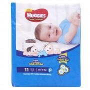 Fraldas Descartáveis Infantis Turma da Mônica Tripla Proteção Tamanho Pequeno Com 11 Unidades