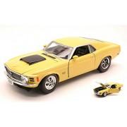 Ford Mustang Boss 429 Amarillo 1970 Coupe 1/24 Motor Max Modelo Modelo de coche Auto