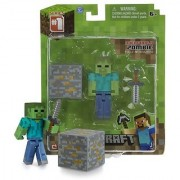 Overworld Zombie ~2.6 Minecraft Mini Fully Articulated Action Figure Pack