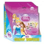 Savvi Disney Princess Glow-in-The-Dark Tattoo and Sticker Kit (6-Pack)