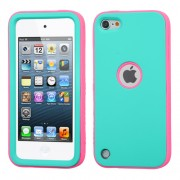 Funda Protector Mixto Apple Ipod Touch 5G Aqua / Rosa / Antiderrapante