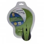 Mouse Esperanza Optical EM125G Green cu Mousepad