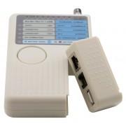 Testador, Detector e Rastreador de Cabos RJ45 / RJ11 / USB e BNC