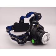 Lanterna frontala cap 1 Led 10W si zoom cu acumulatori inclusi 18650 x 2 la 12V / 220V MX-22-T6
