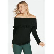 JustFab Off Shouder Sweater Femme Couleur Noir Taille XL JustFab