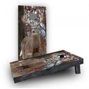 "Custom Cornhole Boards White Tail Deer Buck Cornhole Game CCB1222x4AWRH / CCB122AWRH , Size: 48"""" H x 12"""" W"