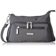 Baggallini Everyday Messenger Bag, Grey (Charcoal)