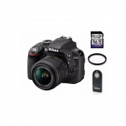 Cámara Reflex Nikon D3300 Lente 18-55mm + Memoria 16GB + Control Remoto +Filtro UV