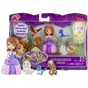 Sofia and Animal Friends ~3 Disney Sofia the First Mini-Doll Fashion Playset