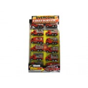 Kole Imports Friction Action Fire Truck Set, 12 Trucks
