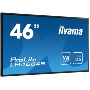 iiyama ProLite LH4664S-B1 46' LCD 1920x1080 AMVA3 LED Fan-less speakers Multiple In-/Outputs (VGA DVI-D HDMI DisplayPort) 500 cd/m² 4000:1 Static Contrast