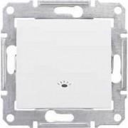 SEDNA Nyomógomb Világítás jelzéssel 10 A IP44 Fehér SDN0900321 - Schneider Electric