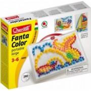 Joc creativ Fanta Color Portabil Quercetti creatie imagini mozaic 280 piese