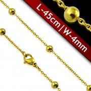 Lant aurit din inox B2673