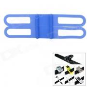 Universal de bicicletas silicona Holding elastico Correa para la linterna - azul