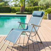 Hespéride Fauteuil Relax de Jardin Silos bleu orage