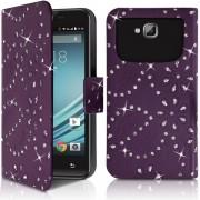 Etui Diamant Universel Xl Violet Pour Motorola Moto G5 Plus