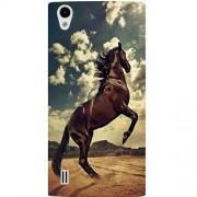 Casotec Rising Horse Design Hard Back Case Cover for VIVO Y15