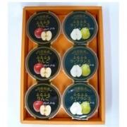 【あんしんCP】ふるふるゼリーセット (ラフランス・りんご各240g×3個)