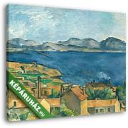 Paul Cézanne: A marseille-i öböl az Estaque-ról nézve (30x25 cm, Vászonkép )