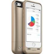 Baterie Externa Tip Husa Mophie 1700 mAh + memorie 16GB iPhone 5-5S Aurie