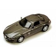 Mercedes Benz Sls Amg, Gray Kinsmart 5349 D 1/36 Scale Diecast Model Toy Car