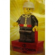 LEGO Exclusive Bricktober 1981 Retro Mini Figure #3 Fire Chief Bagged