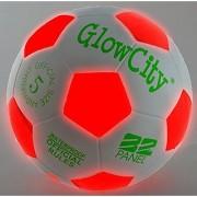 Light Up LED Soccer Ball - Uses 2 Hi-Bright LED Lights Size 5