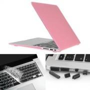 """Skyddsskal Macbook Air 13.3"""" 3i1 med tangentbordsskydd och dammskydd"""
